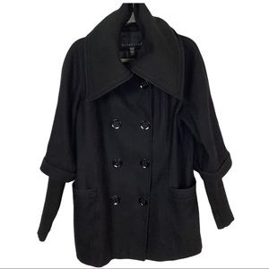 attention coat wool blend Large peacoat